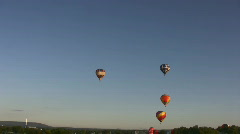 Balloons Flying Stock Footage