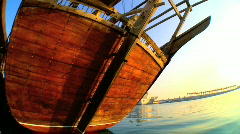 Wooden Fishing Boat Stock Footage