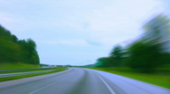 Drive in the foothills Stock Footage
