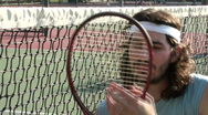 Stock Video Footage of Tennis player on court V2 - HD