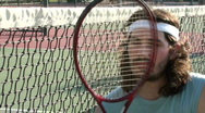 Stock Video Footage of Tennis player on court V4 - HD