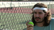 Stock Video Footage of Tennis player on court V5 - HD