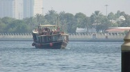 Stock Video Footage of Dhow Cruise Dubai Creek
