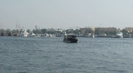 Stock Video Footage of Dubai Water Bus in Dubai Creek
