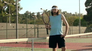 Stock Video Footage of Tennis player poses V3 - HD