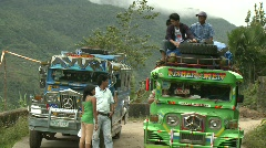 Mountain road in Banaue 13 Stock Footage
