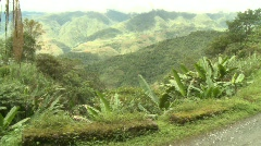 Mountain road in Banaue 11 Stock Footage