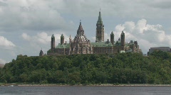 Parliament with power boat XLS Stock Footage