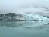 Glacier with clouds wide Stock Footage