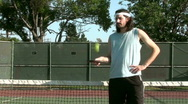 Stock Video Footage of Tennis player pose V4 - HD