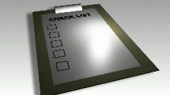 3D check list animation Stock Footage
