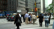 Stock Video Footage of  Wall Street Pedestrians