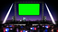 Looping Concert Stage with Green Screen Stock Footage