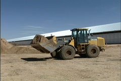 Loading cattle feed Stock Footage