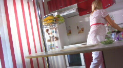Pregnant on the kitchen Stock Footage
