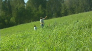 Father, child and the kite 1 Stock Footage