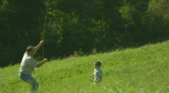 Stock Video Footage of Father, child and the kite 4