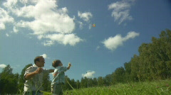 Stock Video Footage of Father, child and the kite 6