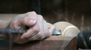 Man Working On A Lathe - Close Up Stock Footage