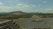 Teotihuacan, Mexico Aztec Pyramids Stock Footage