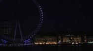 London Eye night Timelapse Stock Footage