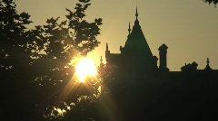 London sunset timelapse Stock Footage