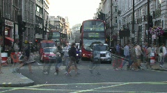 London Piccadily Stock Footage