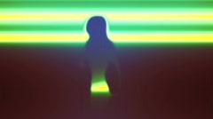 Laser Scanned Dancer Stock Footage