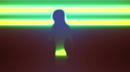 Stock Video Footage of Laser Scanned Dancer