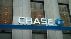 Chase Bank Pan Up Stock Footage