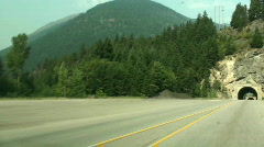Driving tunnel  Canada Stock Footage
