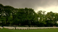 Oosterbeek the Netherlands Airborne cemetery  1944 Stock Footage
