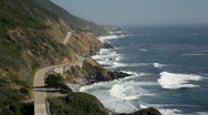 Highway 1 from above, Big Sur, California Stock Footage