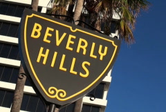 Beverly Hills Sign 01 NTSC Stock Footage