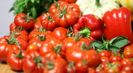 Stock Video Footage of Organic produce, tracking shot