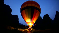Stock Video Footage of Hot air ballooning - Moon Mountain, China