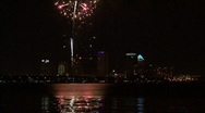 Stock Video Footage of Gasparilla Fireworks