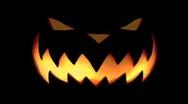 Flaming Pumpkin Head Stock Footage