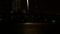 Gasparilla Fireworks Launching From Barge  Stock Footage