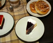 Blueberry Cheese Cake And Other Delights Stock Footage