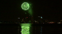 Gasparilla Fireworks Over Tampa Bay With City Skyline Stock Footage
