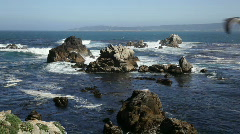 Point Lobos rocks and waves Stock Footage