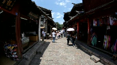 Old town Lijiang in Yunnan province, China Stock Footage