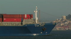 Cargo Transport Ship Stock Footage