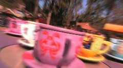 AMUSEMENT PARK TEACUPS Stock Footage