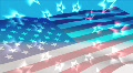 AMERICAN FLAG WITH CIRCLE OF STARS Footage