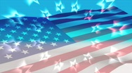 AMERICAN FLAG WITH CIRCLE OF STARS Stock Footage