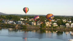 Balloon And Boat Stock Footage