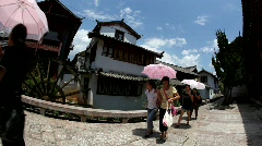 Water turbine in old town Lijiang in Yunnan province, China Stock Footage