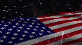 AMERICAN FLAG W/ FIREWORKS HD Footage